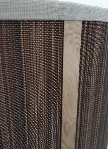Hand woven horse hair drum shade